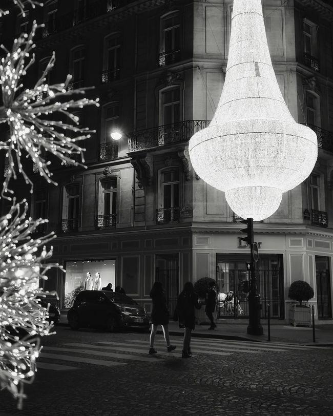 Paris Paris By Night Chandelier Dior Streetphotography Street Photography Streetphoto_bw Monochrome Monochromatic EyeEm Best Shots - Black + White