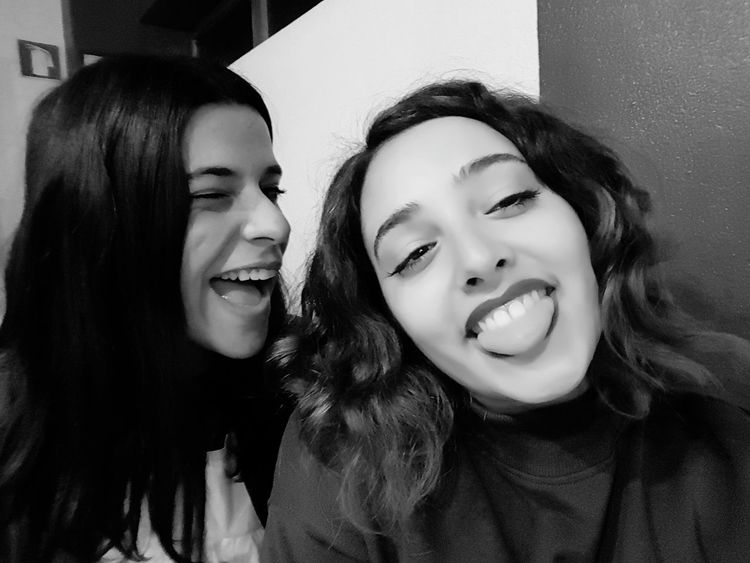 Friendship Two People Fun Togetherness Only Women Young Women Happiness Blackandwhite Photography Black & White Friendship Two People Fun Young Adult Brown Hair Togetherness Person Only Women People Long Hair Young Women Adult Happiness Only Young Women Smiling Selfie