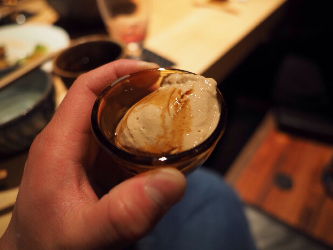 Kyoto Japan Nagaokakyo Enoki-ya Dinner Pudding Delicious Olympus PEN-F 京都 日本 長岡京 えのきや 食事会 プリン コーヒー? 美味 (null)デザート