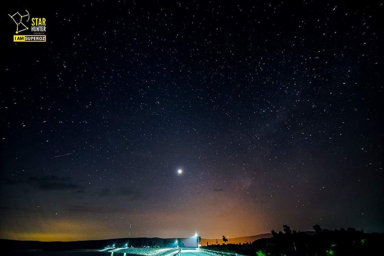 night, scenics, beauty in nature, astronomy, nature, sky, outdoors, star - space, tranquil scene, tranquility, no people, sea, water, galaxy