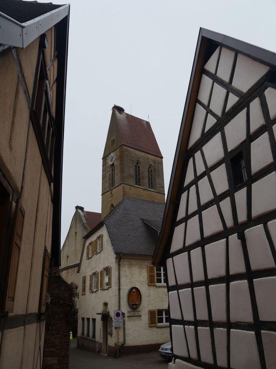Alsace Eguisheim France Half-timbered House Church Storks