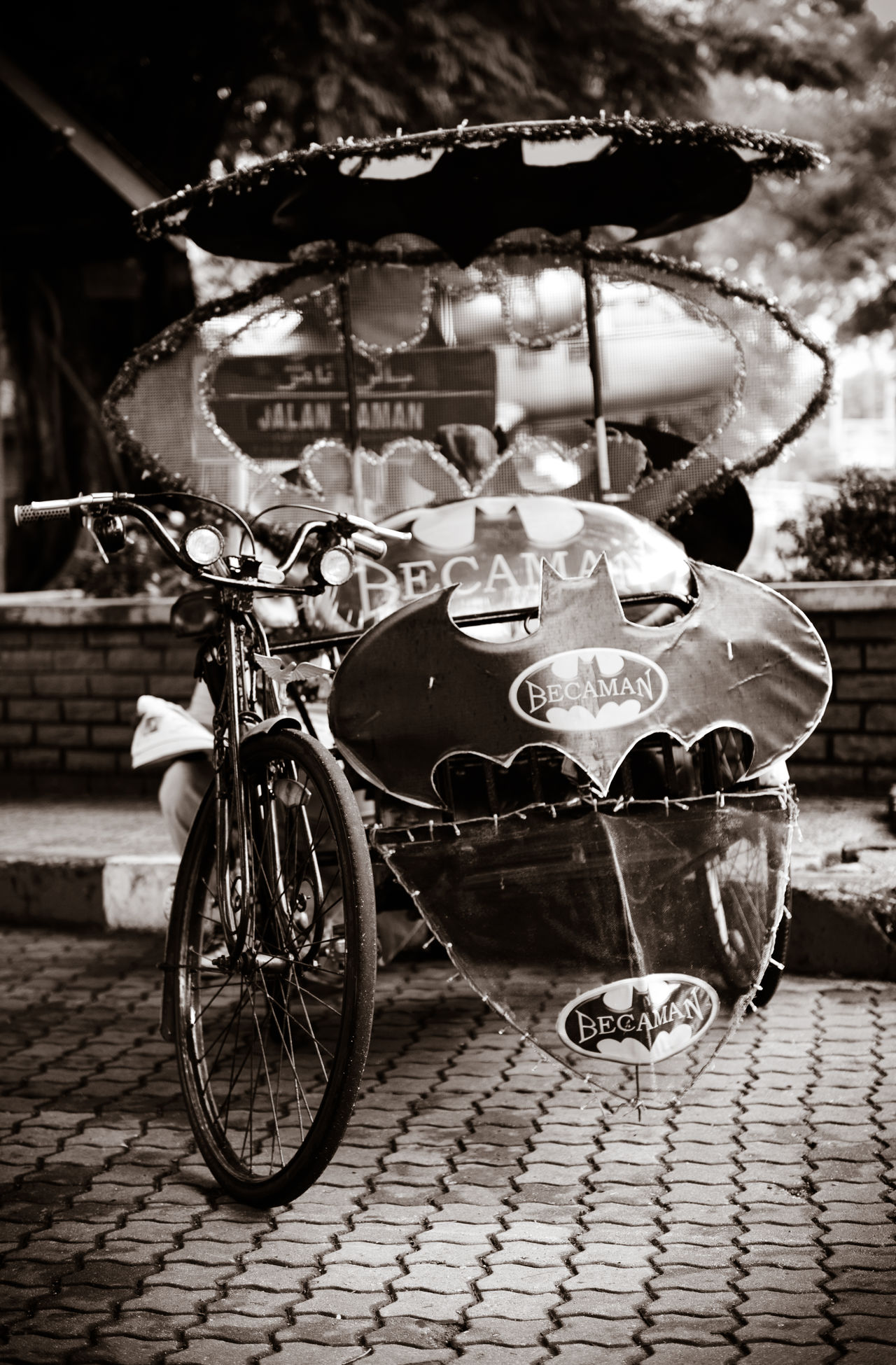 Bat Mobile Batman ❤ Batmobile Black & White Black And White Photography Local Transportation Malaysia Trishaw