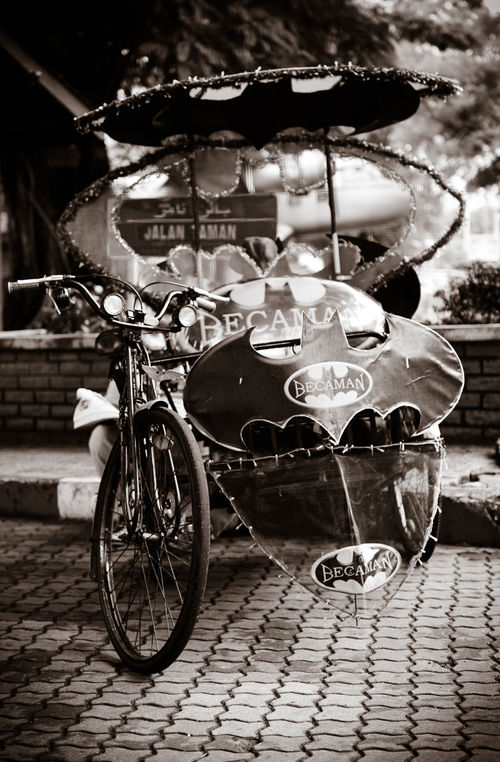 Bat Mobile Batman ❤ Batmobile Black & White Black And White Photography Local Transportation Malaysia Trishaw