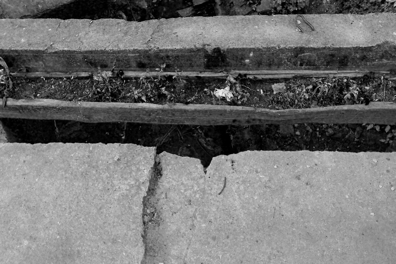 Abstract Black And White Black And White Collection  Black And White Photography Bridge Concrete Bridge Day Irregular No People Outdoors Stone Material Stripes Straight Lines