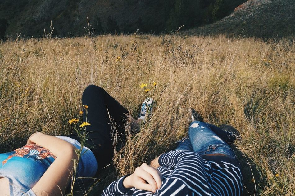 Beautiful stock photos of friends, Bonding, Casual Clothing, Day, Field