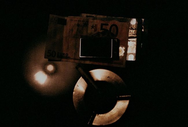 M. Close-up Illuminated Darkroom Lowlight Film Photography Ishootfilm 35mm Analog Buyfilmnotmegapixels 35mm Film Money Lighter Low Light Chrome Analogue Photography Dark