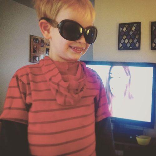 The cool kid! Lol Best  Boymom Loveyouwithallmyheart Toddler  Goof Youtube Sunglasses Backwards  SundayFunday Nocellphonesunday