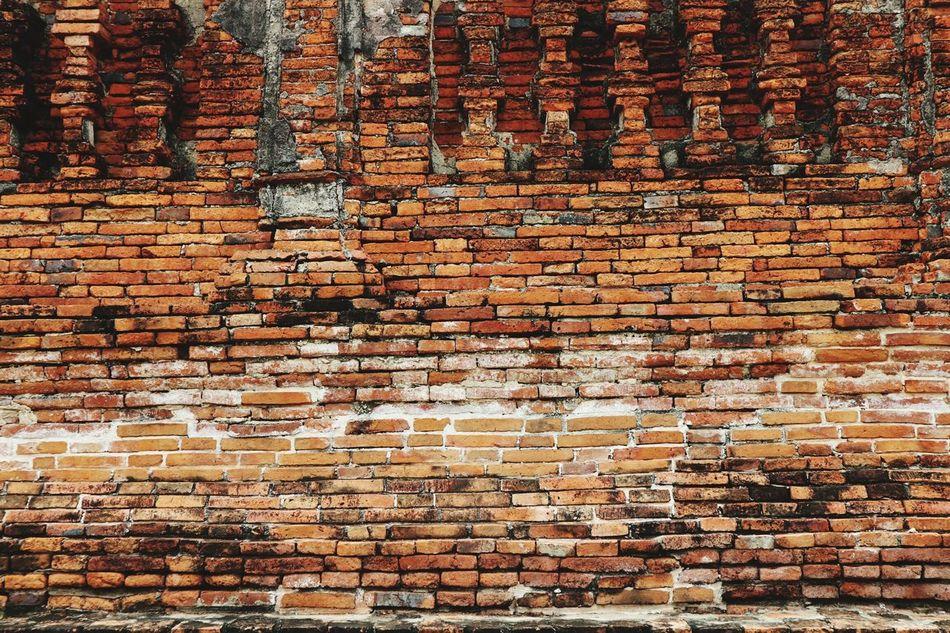 Ancient Brick wall in ruin temple, Ayuddhaya-Thailand Ancient Brick Wall Brick Wall Canon Eos M10 Thailand_allshots Thailand Photos Temple Ruin Temple Ayuddhaya Ayutthaya | Thailand Ayutthaya Thailand Wat Chaiwatthanaram Ayutthaya Historic Park Showcase July Beautifully Organized