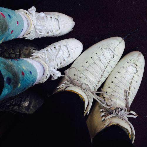 Iceskating Shoes Small And Big Mum And Daughter Iceskating