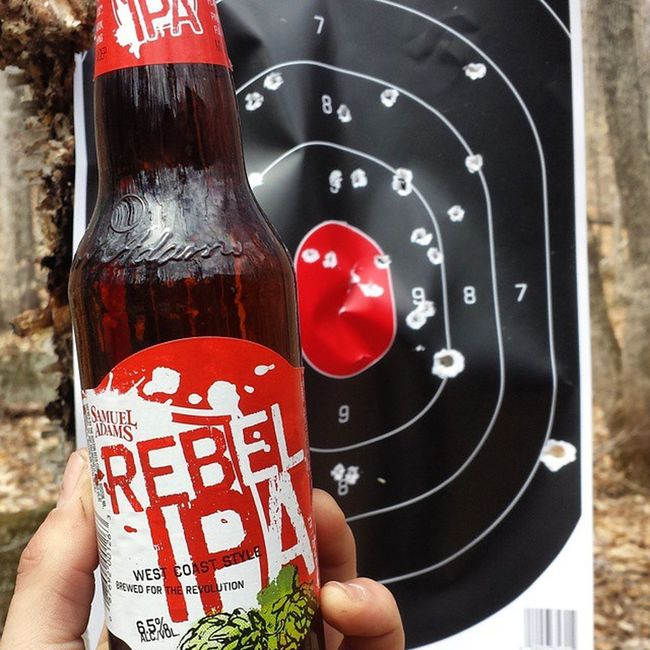 Last saturday was awesome. Peppered a couple targets with some sick firearms and got 3 sheets to the wind. Samueladams SamAdams Samueladamsbrewery Rebelipa WestCoast IPA Beer Craftbeer Craft Brew Shooting Guns Targets Peppered 44mag 25acp 22lr Drinking Bullseye Goinglive Powpow Pewpew PopPop