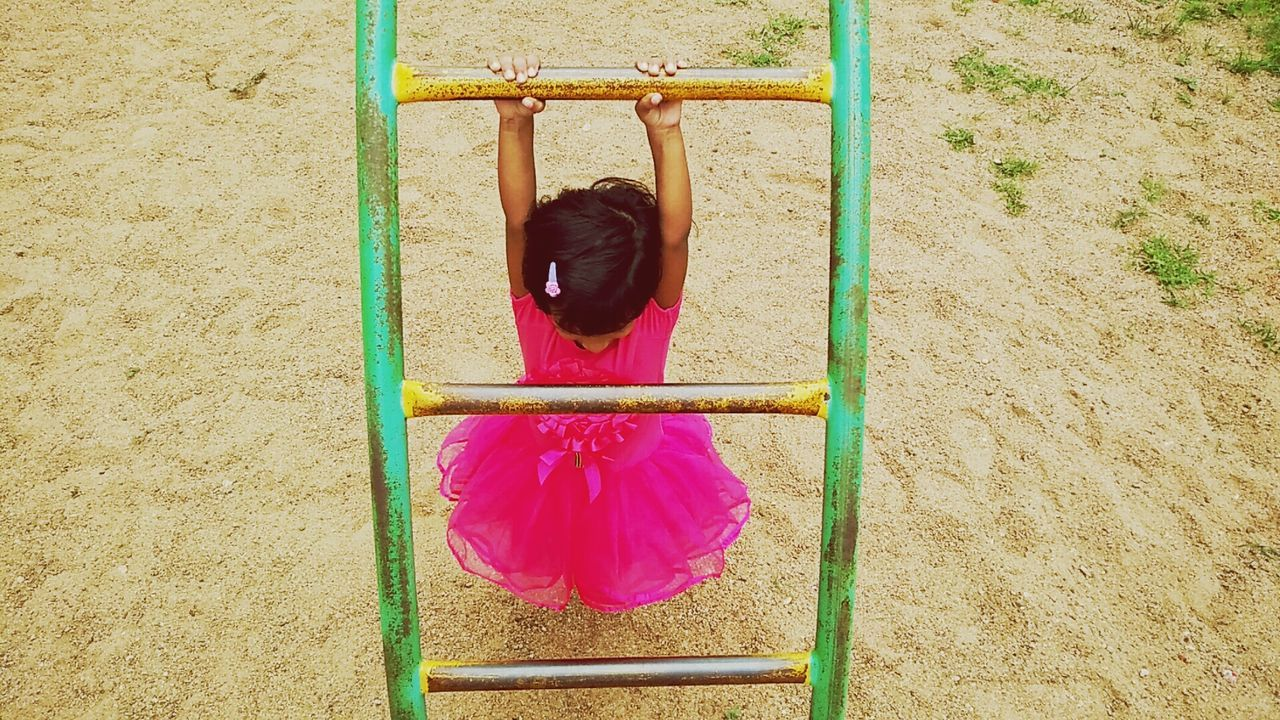 Baby Playing Play Area Baby Pink Dress Play Ground