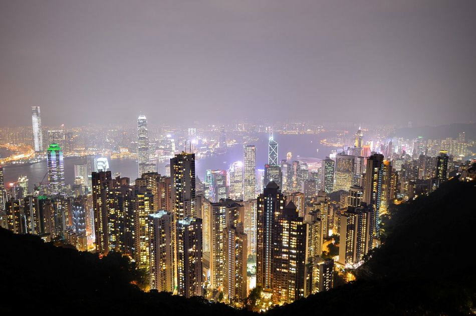 Second visit to Hong Kong, waited 20 minutes just to get this shot of the skyline. Simply magnificent! Architecture Building Exterior City Cityscape Eye4photography  EyeEm Best Shots EyeEm Gallery EyeEmBestPics Illuminated Long Exposure Long Exposure Night Photography Night Outdoors Sky Terrace 428 Skyscraper Travel Destinations Urban Skyline Victoria Peak, Hongkong