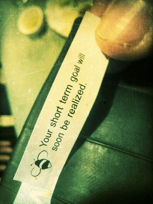 fortune cookie at Hana Restaurant by Juicy Jones