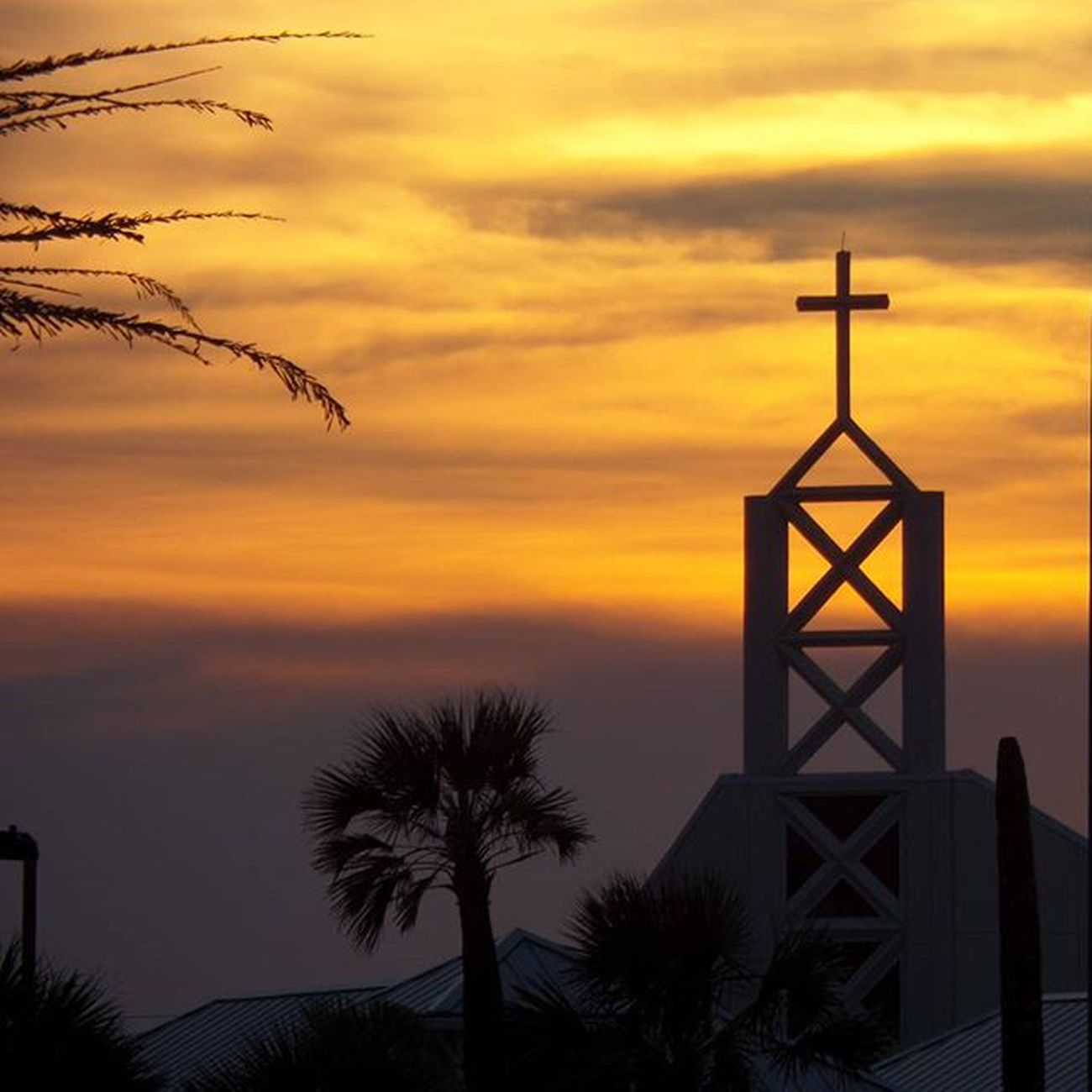 Holy sunset at the beach over Beach Church Jax Sunset Nofilter Jaxbeach Voidlive Igersjax Igers Eyesofjax Firstcoastnews Sunset_madness Sunsetsniper Florida Ilovejax Iloveflorida Skyporn Sky Church