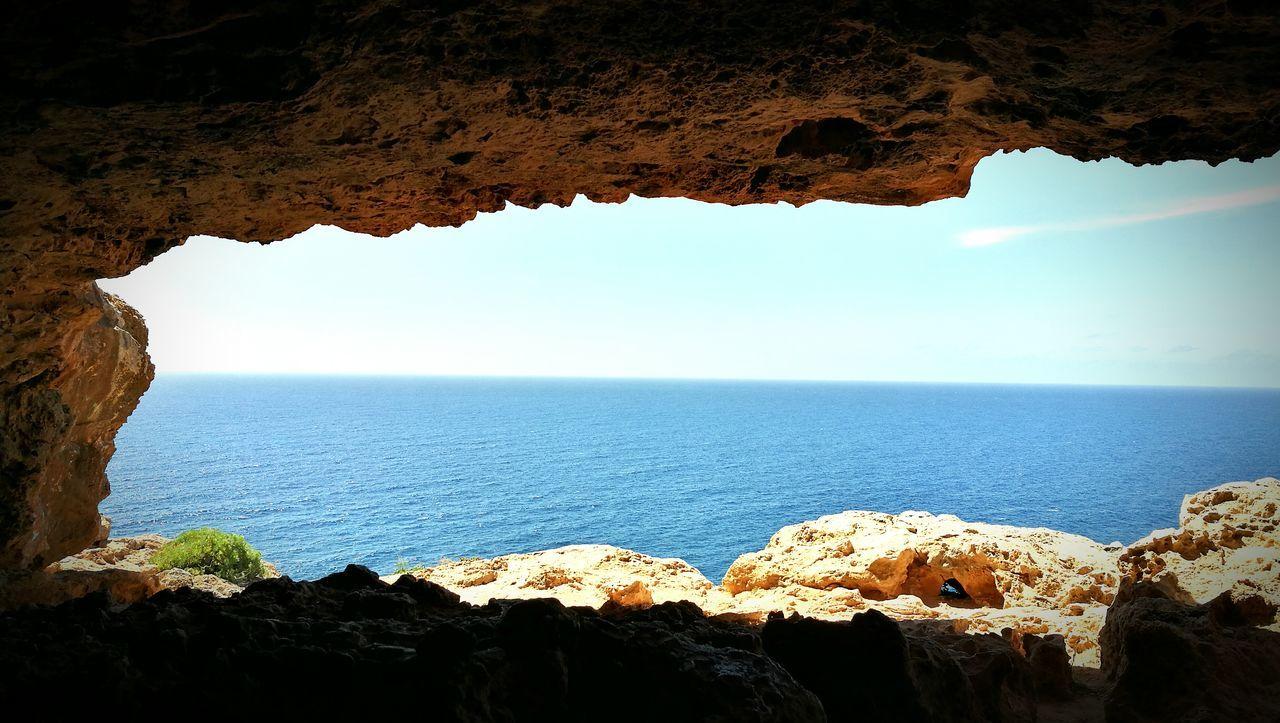The Great Outdoors - 2017 EyeEm Awards Formentera Water Beach Sea Beauty In Nature Faro Cueva Horizon Over Water Nature Outdoors Day