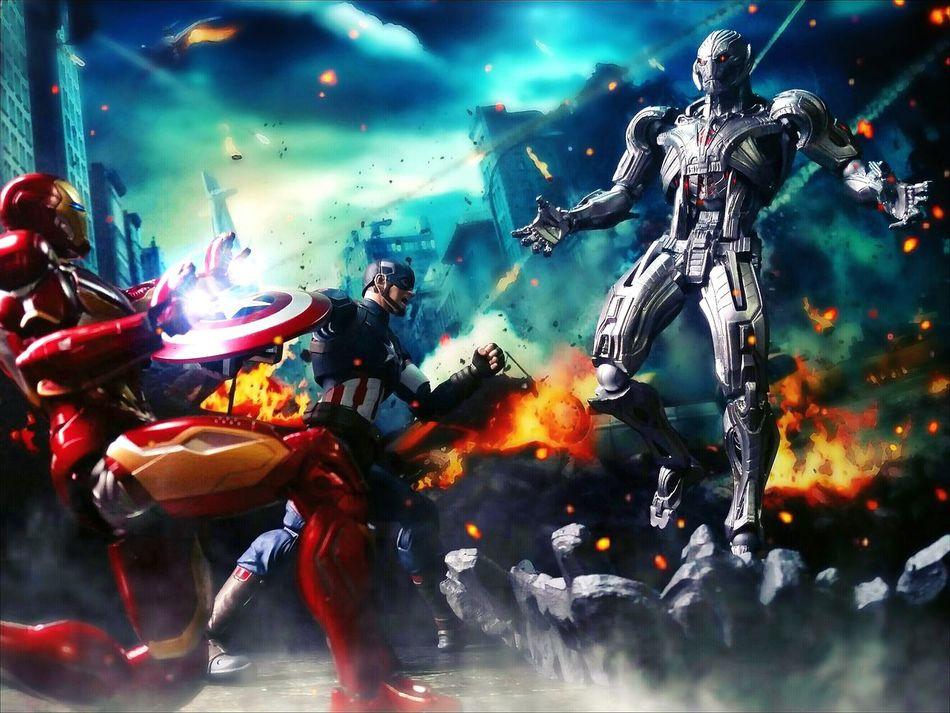Avengers: Age of Ultron Action Figures Marvel Toy Photography Ultron Revoltech Toys BANDAI Tamashiinations Shf Sh Figuarts Captain America Iron Man
