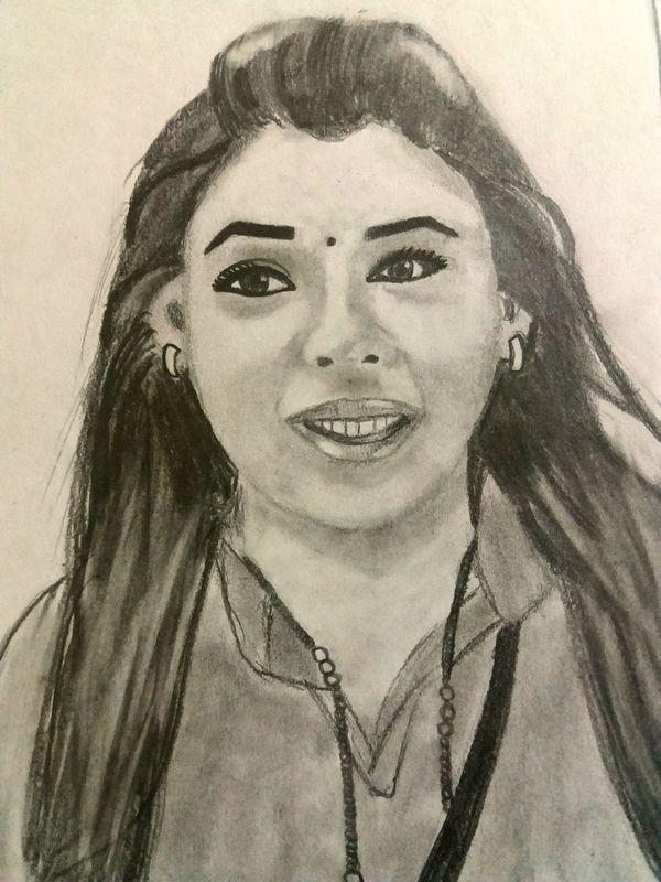Pencil sketch Black And White Portrait