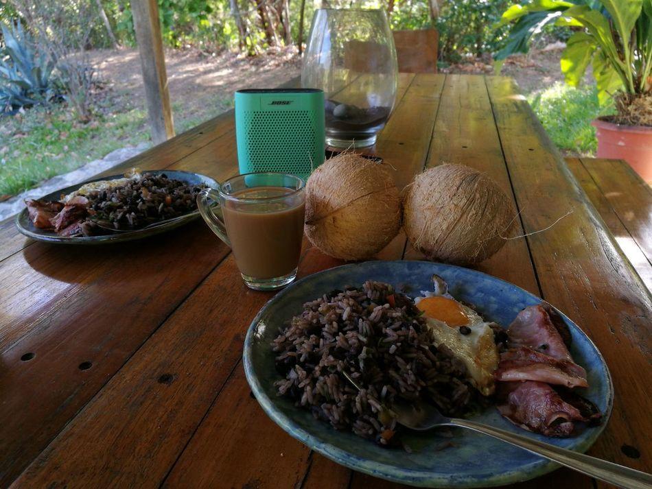 Costa Rica, desayuno típico, Vacations Costa Rica Pura Vida ✌ Guanacaste  Outdoors Nofilter Tranquility GalloPinto Food Bose Speaker