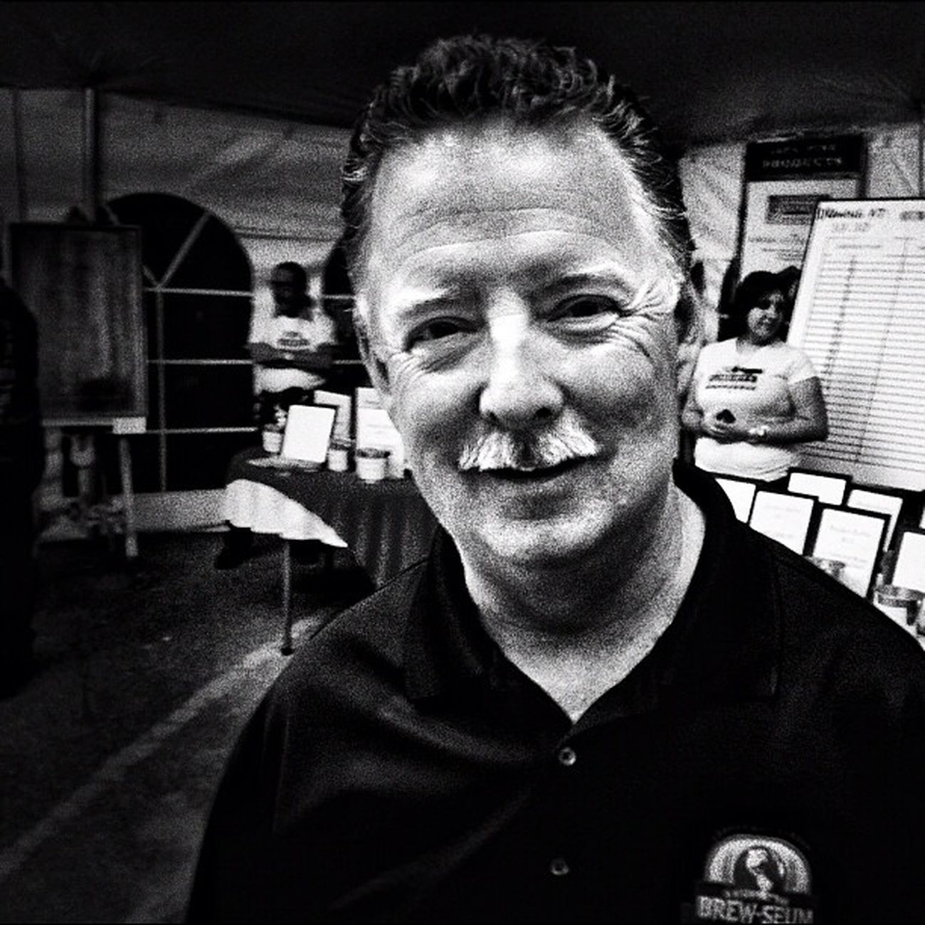 Tim the local weather man and Brewseum Master Blackandwhite Mcallen Rgv Brewseum People
