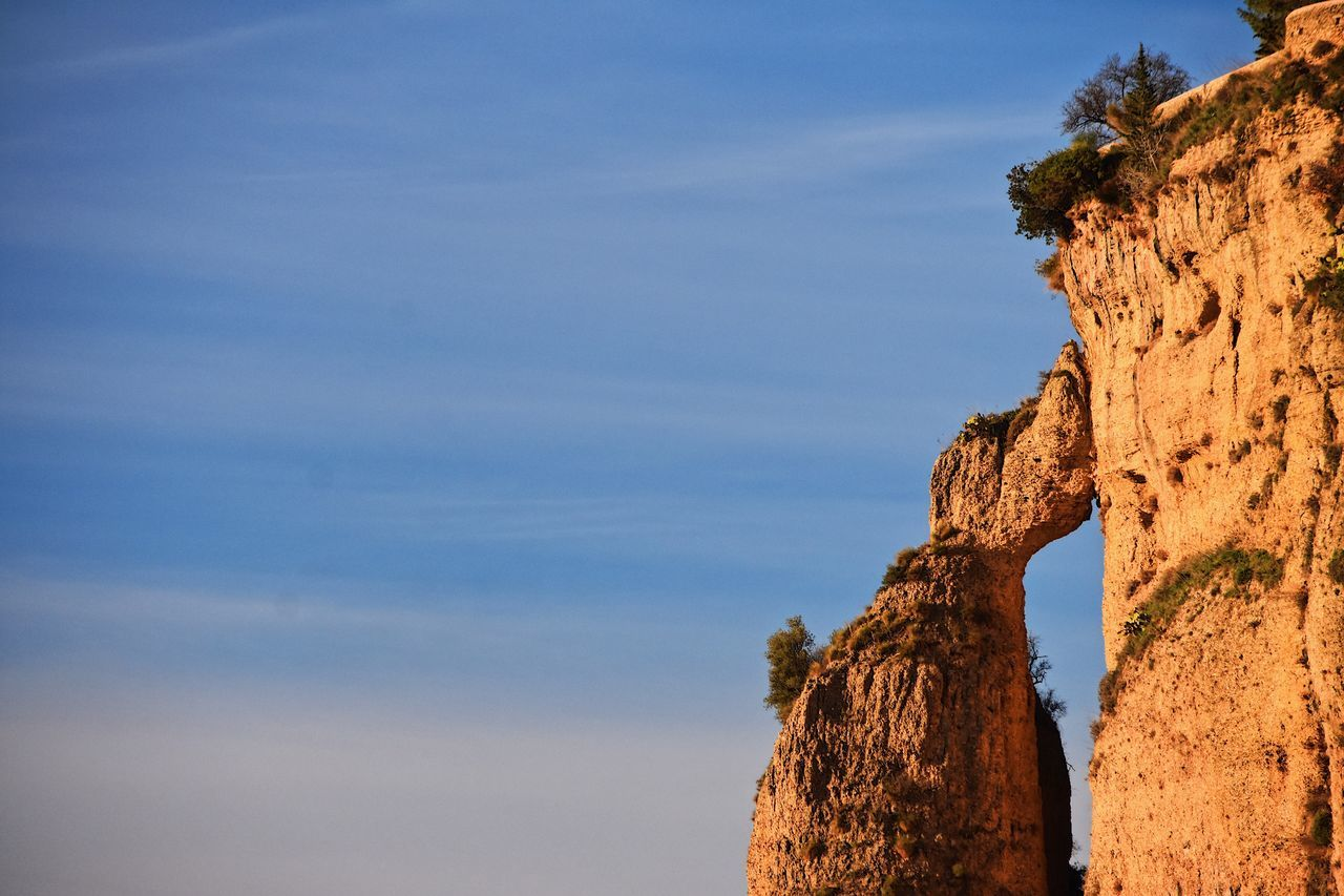 Cliff Golden Hour Respect For The Good Taste Let's Do It Chic! Eye4photography  EyeEm Best Shots Exceptional Photographs Nature Sky Beauty In Nature Tranquility Rock - Object Scenics Physical Geography Tree Geology Tranquil Scene Day Cloud - Sky Outdoors No People Mountain