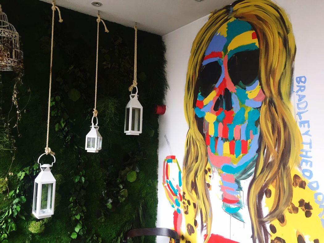 Kate Moss Art ArtWork Lantern Hanging Lanterns Wall Art Color Colour Colorful Colourful