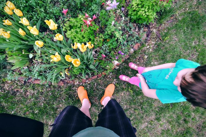 Americans Camera Work Carnival Of Feet Casual Clothing Elevated View Family Feet Feet On The Ground Flower Foot Photography Footwear Garden Growth Lifestyles Nature Personal Perspective Photo Essay Plants Project Shoes Wide Angle Yard