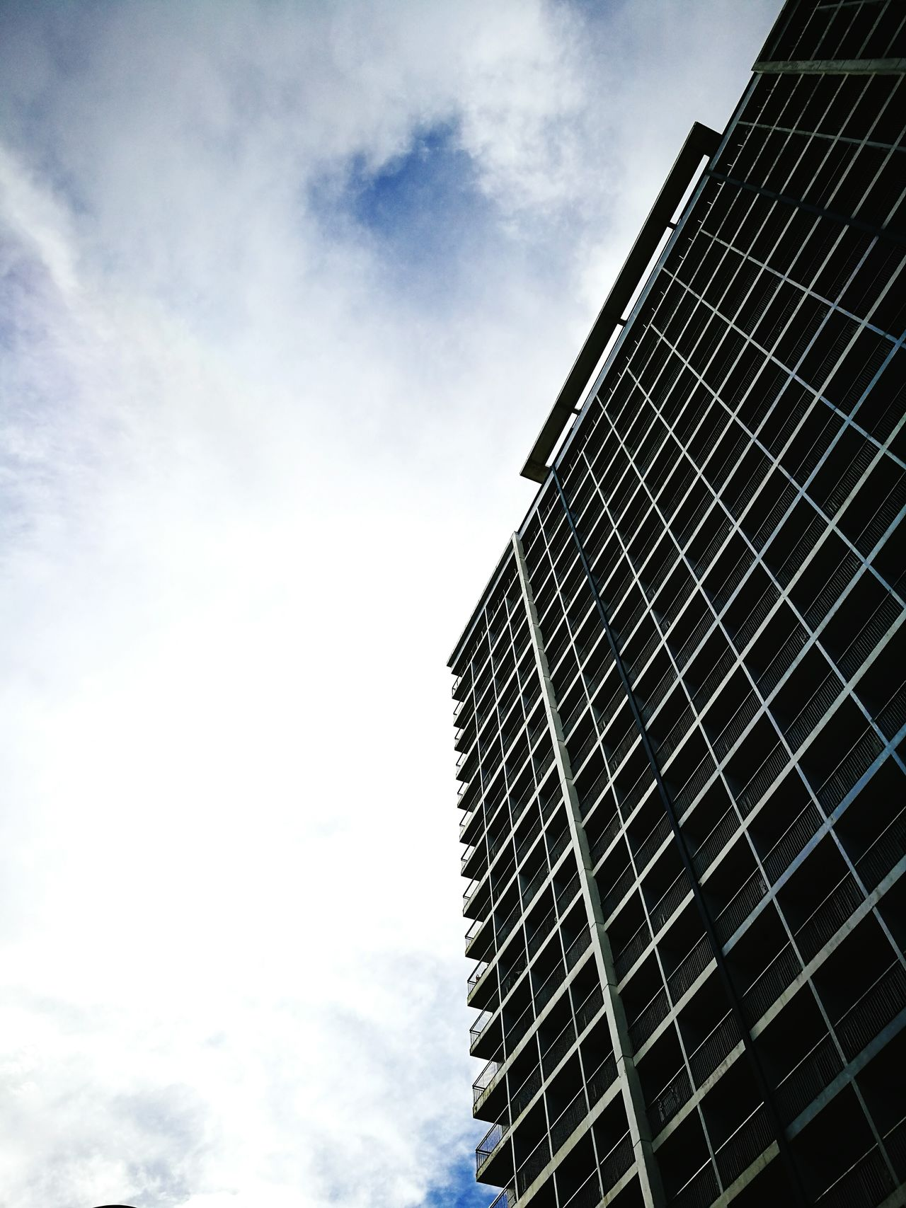 Skyscrapers. Low Angle View Architecture No People Outdoors Built Structure Still Life Cloudscape Horizon Sky Street Photography Futuristic Mobilephotography Amateur Shot Amateur Photography