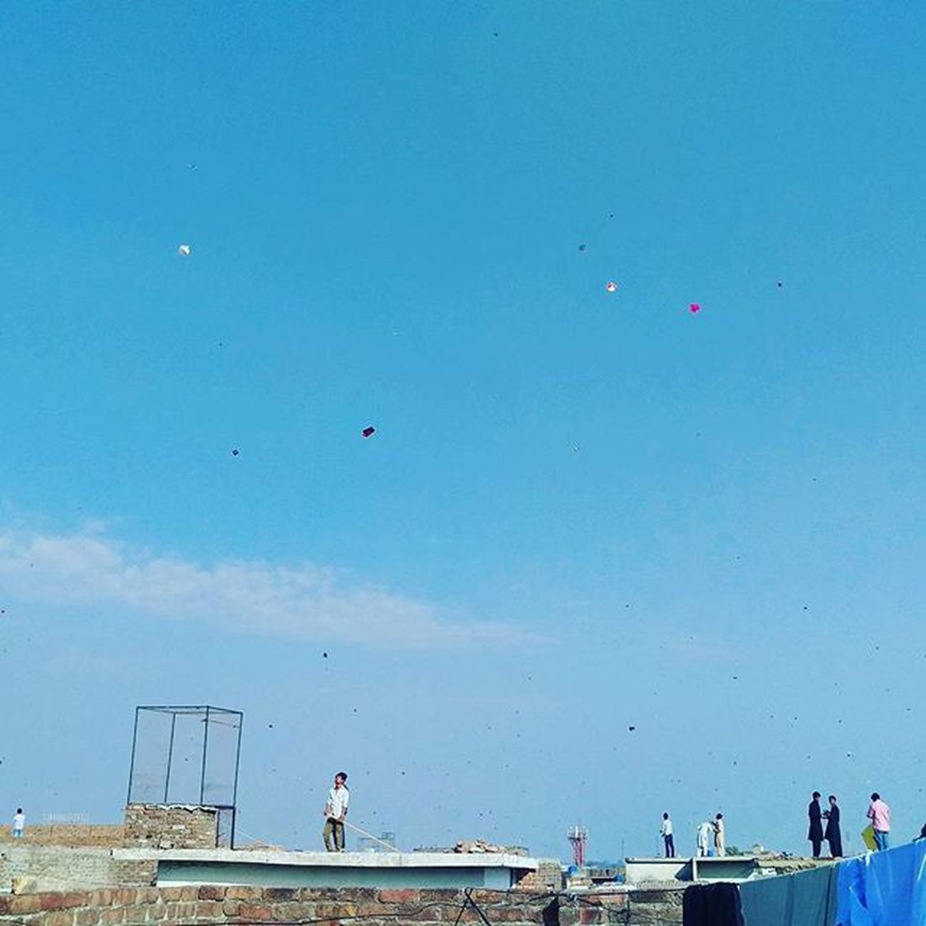Basant Festival from my roof top. Basant Basant2016