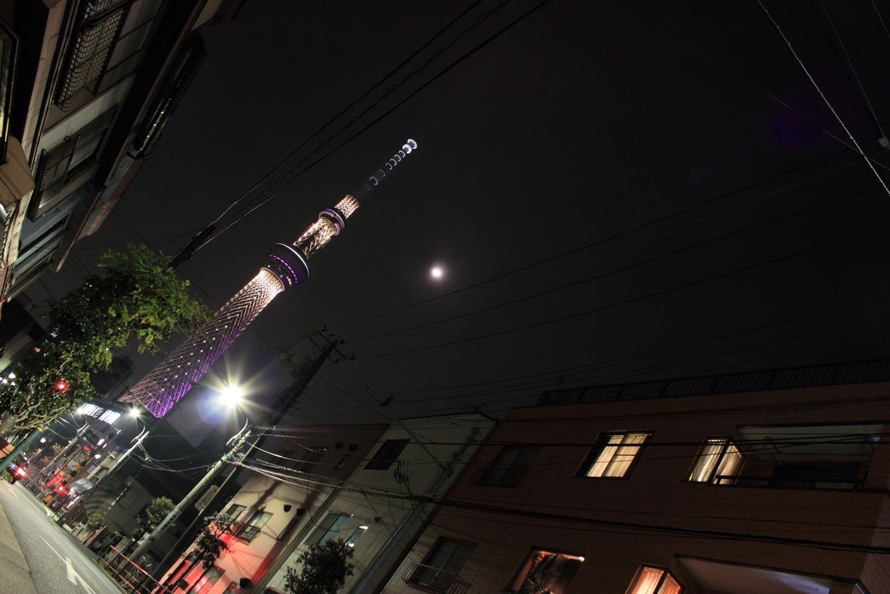 The SKYTREE Which Is Visible From A Residential Street.