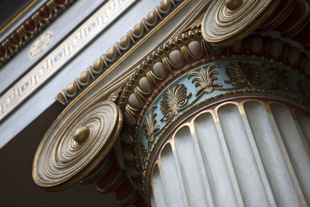 Low Angle View Of Ionic Column