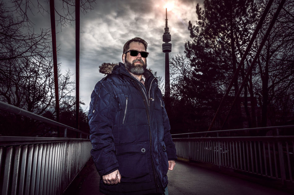 Alone Beard Bridge Casual Clothing Cloud Clouds And Sky Florian Tu From Dusk Till Dawn Lifestyles Men Perspective Real People Standing Sun Sunglasses Young Adult
