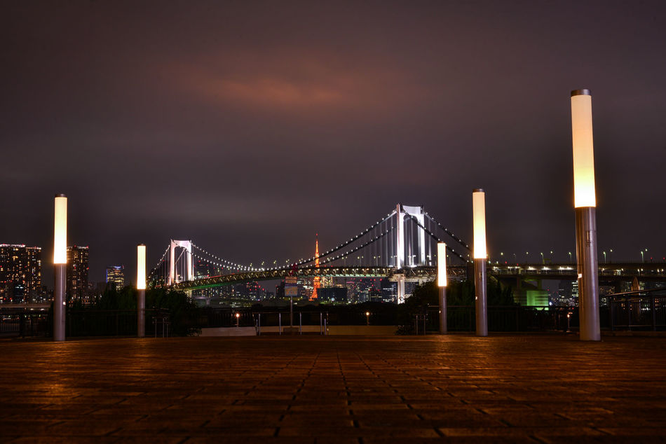 Architecture Bridge - Man Made Structure Built Structure Cityscape Connection Illuminated Odiba Rainbow Brite Travel Destinations Cities At Night Ultimate Japan