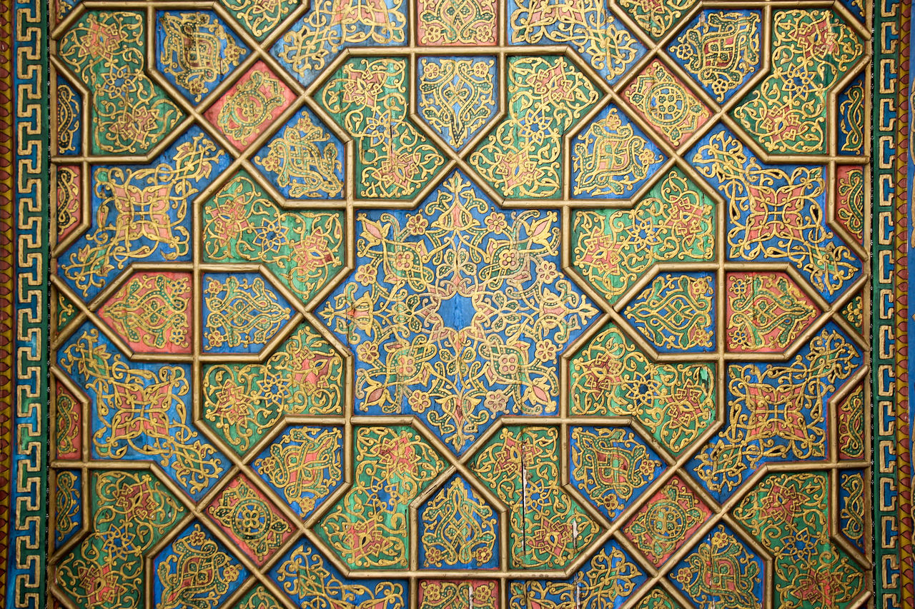 Architecture Background Backgrounds Blue Built Structure Close-up Complexity Day Full Frame Indoors  Islamic Islamic Art Multi Colored No People Pattern Samarkand Samarqand Seamless Pattern Silk Road Tile Uzbekistan
