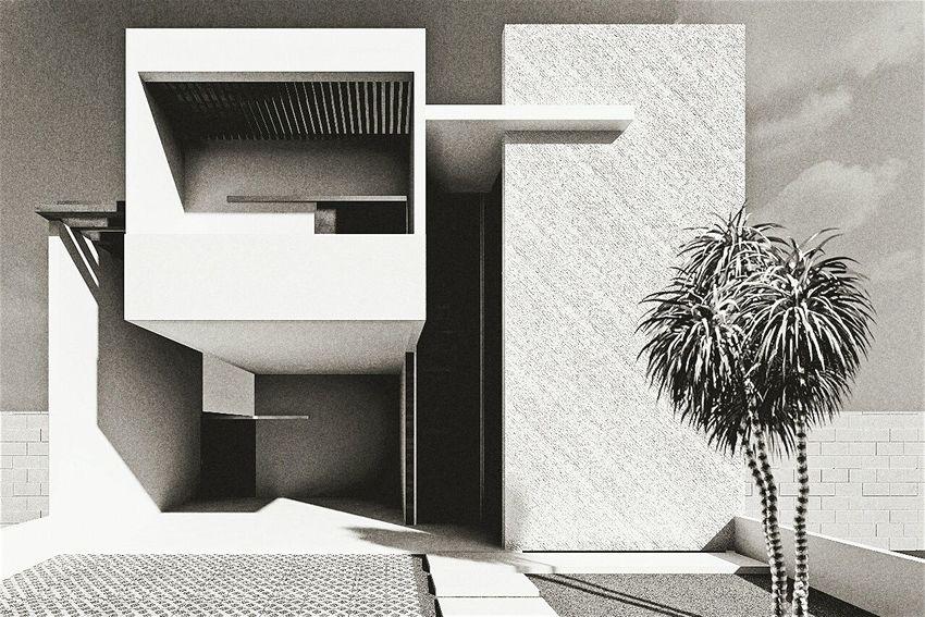 Estudo Visual 3D Architecture Working Revit  Residence PROJETO Project