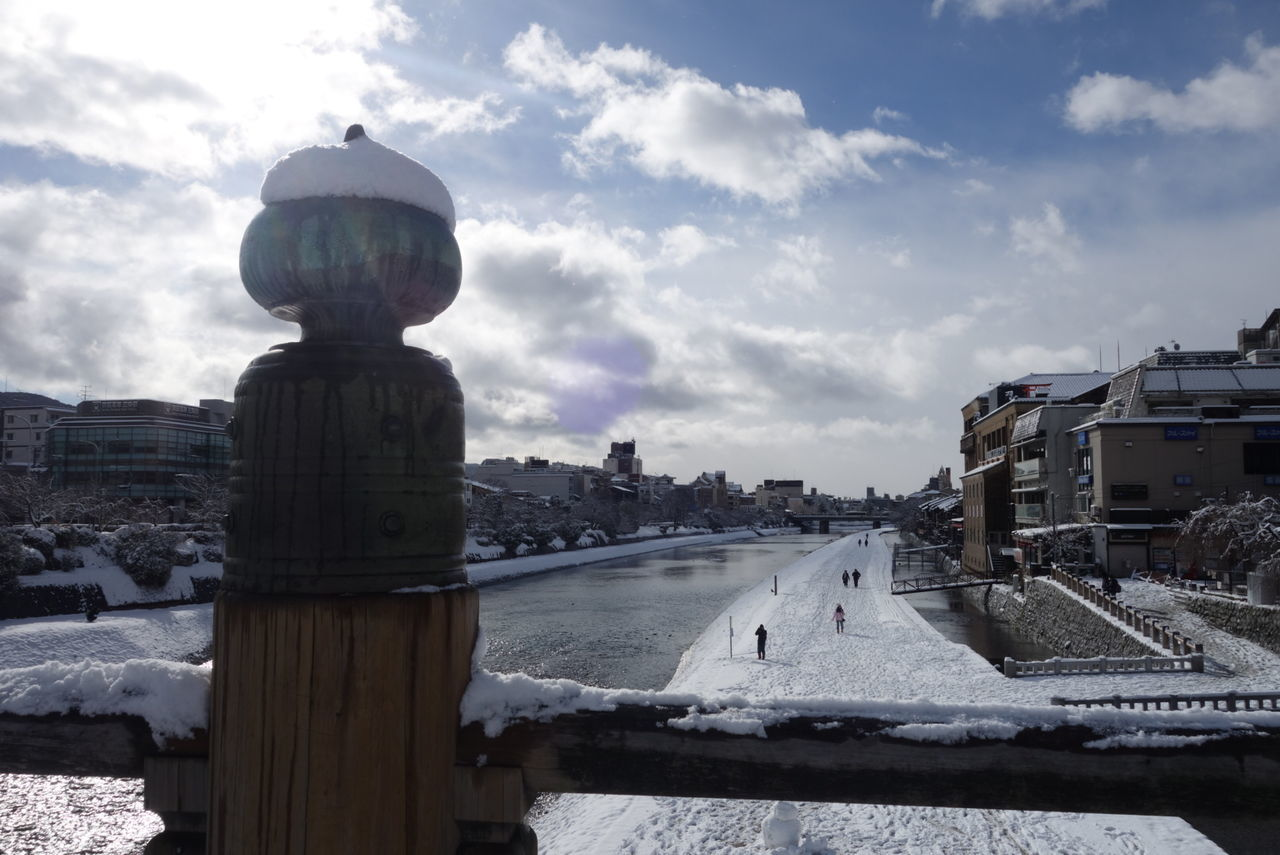Architecture Built Structure Water Travel Destinations Sky Outdoors Building Exterior Cloud - Sky Nature Day Snow Snow ❄ Snow Day Kyoto Kyoto City Japan Japan Photography