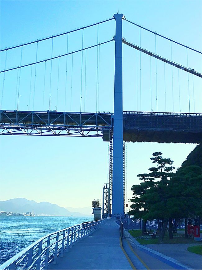 Connection Bridge - Man Made Structure Built Structure Transportation Architecture Clear Sky Outdoors Engineering The Way Forward Suspension Bridge Day Bridge Building Exterior No People Sky Road Tree