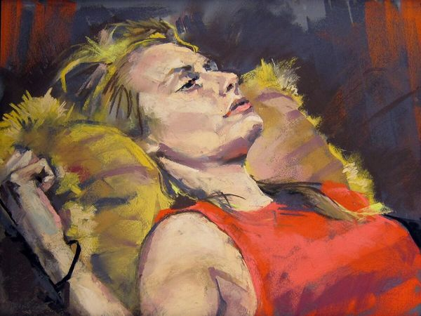 Drawing Portrait Creative Art soft pastel painting