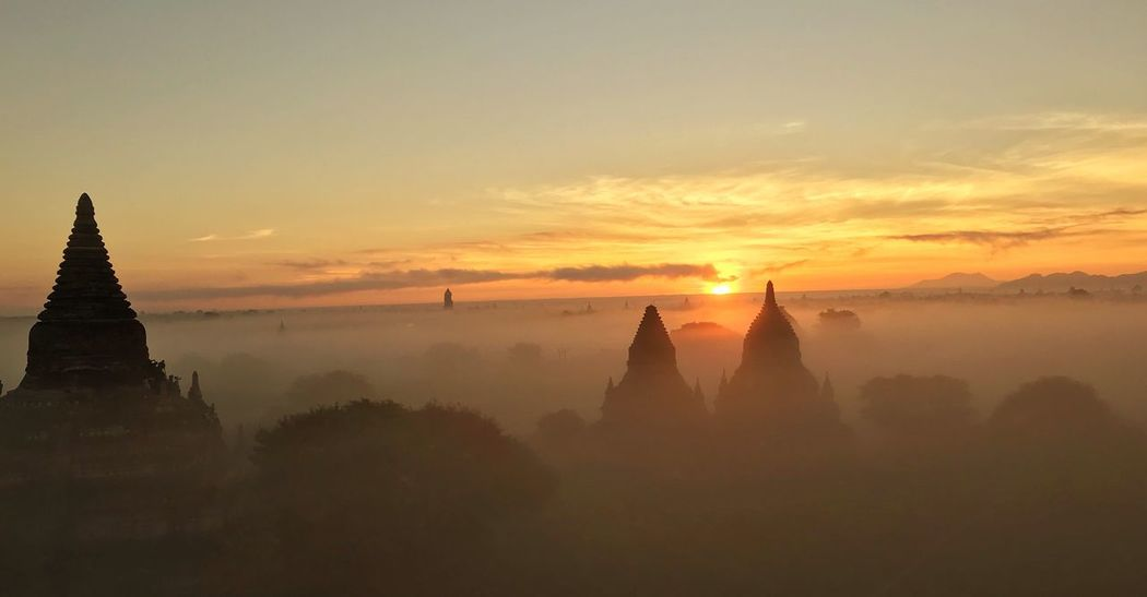 Bagan Landscape Nature Taking Photos Beauty In Nature Ancient History Religion Sky Sun