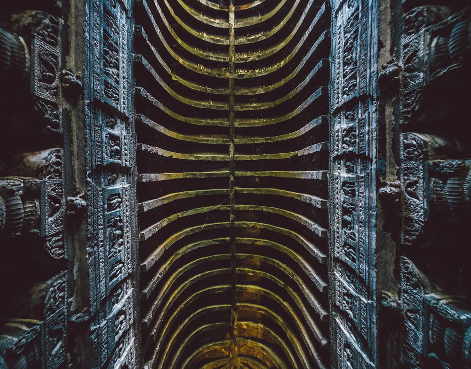 Ajantacaves Ancient Ancient Civilization Architecture ASIA Full Frame India Indoors  Lookup No People