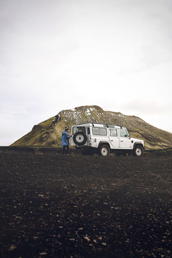 Iceland 4x4 4x4 Off-road Team 4x4 Trucks Iceland Landrover Defender Day Field Landscape Nature Outdoors Sky Transportation