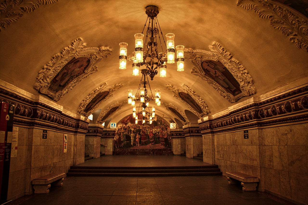 Metro to Moscou Architecture Indoors  Metro Moscow Russia Subway Travel Travel Destinations