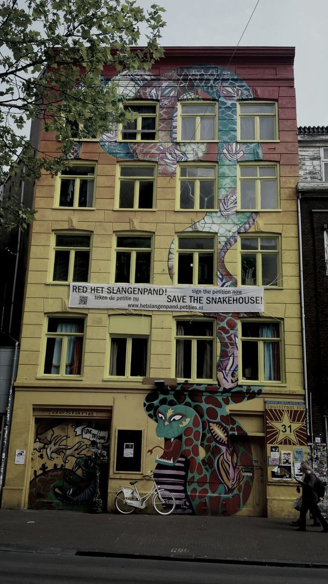 Amsterdam Snake House Streetphotography Graffity
