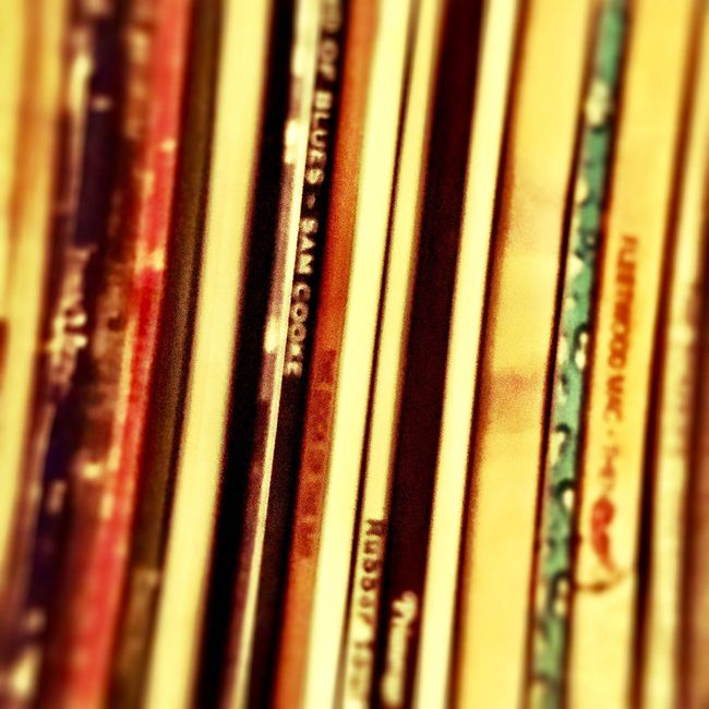 Close-up In A Row Full Frame Selective Focus Focus On Foreground Repetition No People Differential Focus Man Made Object Records Vinyl Records