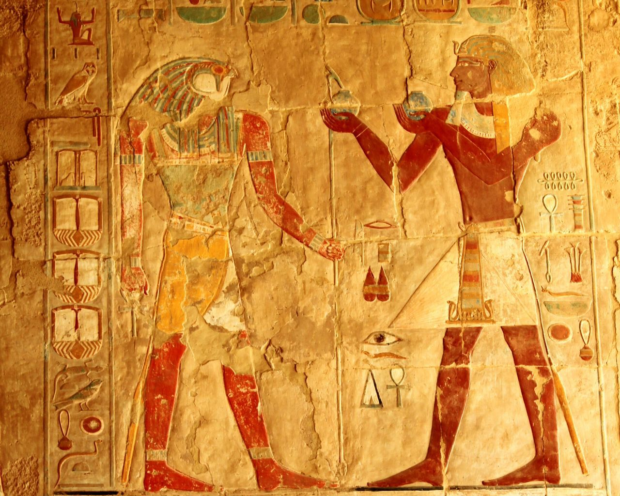 Egypt Temple Of Hatshepsut Hieroglyphics Historical Monuments
