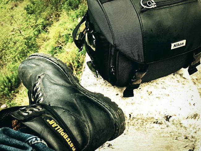 Quintessence of my travelogue Caterpillar Boots Nikond5300 Nikon India Gauchar Rayban Aviators