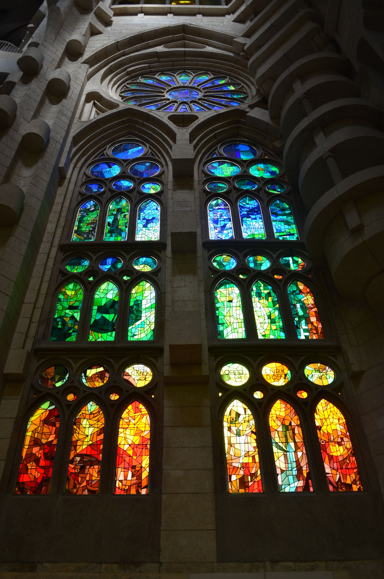 Architecture Architecture Barcelona Colors Detail Gaudi Gaudì Architecture Work Light And Shadow Low Angle View Religion Sagrada Familia SPAIN Travel Destinations Vitral Window