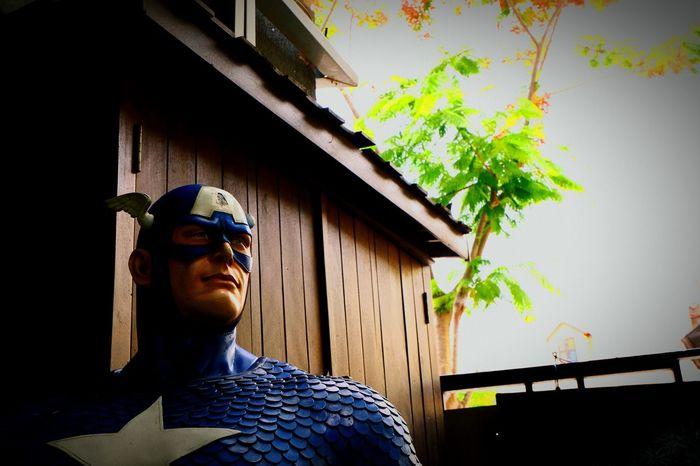Sculpture Building Exterior Close-up Human Representation Travel Destinations Representing Travel Outdoors Captain America