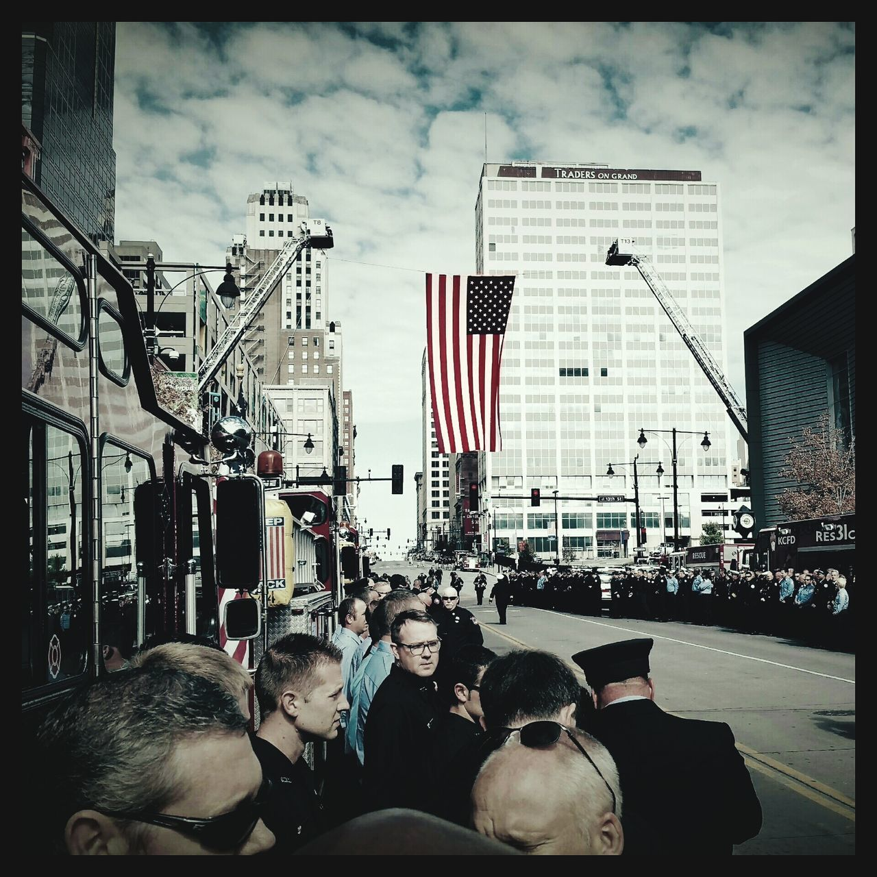 Firefighter Mesh & Leggio Service at Sprint Center Firefighter Sacrifice Firefightersmemorial Kansascitysbravest First Eyeem Photo
