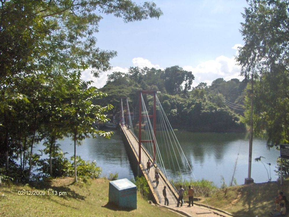 Hanging Bridge Rangamati. It's a beautiful tourism place in Bangladesh Beauty In Nature Blue Sky Clear Sky Clouds And Sky Hanging Bridge Lake View Lakeshore Lakeside Nature Nature Photography Sky Structure And Nature Tree Water EyeEmNewHere