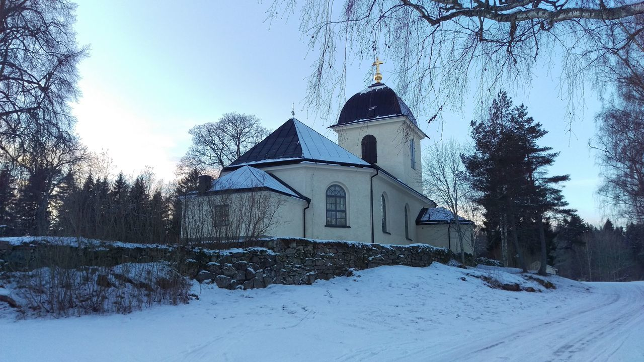 It's Cold Outside Kvarsebo Sweden Sverige Scandia Northern Europe Church Kyrka Snow Snow ❄ Cold Coldweather Winter Wintertime Tourism